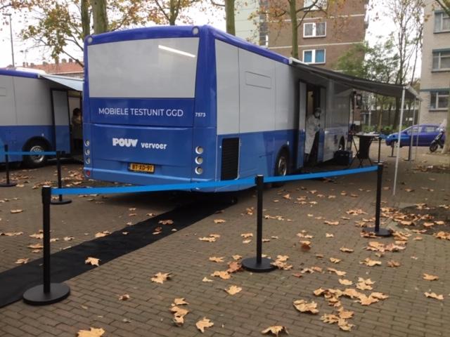 Corona testbussen in Bospolder-Tussendijken